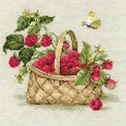 Набор для вышивания Риолис №1448 «Малина в лукошке» 30*30 см