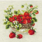 Набор для вышивания Риолис №1449 «Садовая клубника» 30*30 см