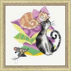 Набор для вышивания Риолис №1466 «Кошки-мышки» 20*20 см