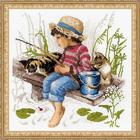 Набор для вышивания Риолис №1470 «Ловись, рыбка» 30*30 см