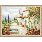 Набор для вышивания Риолис №1472 «У фонтана» 40*30 см