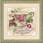 Набор для вышивания Риолис №1476 «Малиновый чай» 20*20 см
