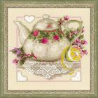Набор для вышивания Риолис №1477 «Чай с лимоном» 20*20 см