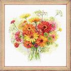 Набор для вышивания Риолис №1485 «Акварельные герберы» 30*30 см