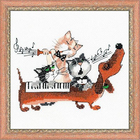 Набор для вышивания Риолис №1495 «Такса-блюз» 20*20 см