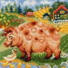 Набор для вышивания Риолис №1523 «Хуторок. Свинка» 20*20 см