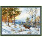 Набор для вышивания Риолис №1528 «Лось в зимнем лесу» 40*28 см