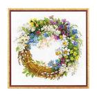 Набор для вышивания Риолис №1536 «Венок с черемухой» 30*30 см