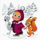 Набор для вышивания Риолис №1567 «Праздник на льду» 18*18 см