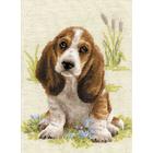 Набор для вышивания Риолис №1578 «Малыш бассет» 26*38 см