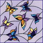 Набор для вышивания Риолис №1625 Подушка/панно «Витраж. Бабочки» 33*33 см
