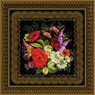 Набор для вышивания Риолис №1642 Подушка/панно «Жостовская роспись» 40*40 см
