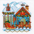 Набор для вышивания Риолис №1661 «Домик с санями» 15*15 см