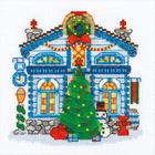 Набор для вышивания Риолис №1662 «Ледяной домик» 15*15 см