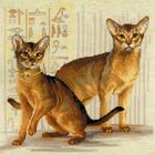 Набор для вышивания Риолис №1671 «Абиссинские кошки» 40*40 см