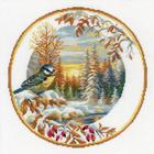 Набор для вышивания Риолис №1692 «Тарелка с синицей» 30*30 см
