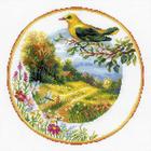 Набор для вышивания Риолис №1693 «Тарелка с иволгой» 30*30 см
