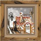 Набор для вышивания Риолис №610 «Город и кошки. Зима» 13*13 см