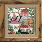 Набор для вышивания Риолис №612 «Город и кошки. Лето» 13*13 см