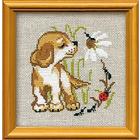 Набор для вышивания Риолис №672 «Щенок» 15*15 см