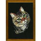 Набор для вышивания Риолис №766 «Серая кошка» 21*30 см