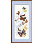 Набор для вышивания Риолис №902 «Бабочки России» 22*50 см