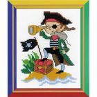 Набор для вышивания Риолис П-164 «Храбрый пират» (НВ164) 13*16 см