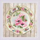 Набор для вышивания Риолис РТ-0075 «Тарелка с розовыми маками» 21*21 см