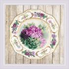 Набор для вышивания Риолис РТ-0076 «Тарелка с хризантемами» 21*21 см