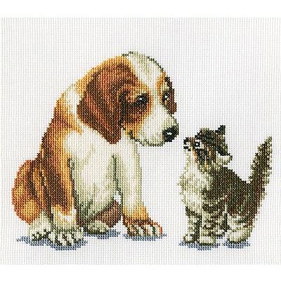 Набор для вышивания РТО C196 «Знакомство» 18*14 см в интернет-магазине Швейпрофи.рф