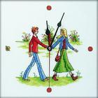 Набор для вышивания РТО M40003 Часы «Соединяя руки» 25*25 см