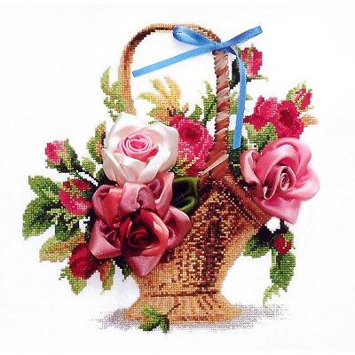 Набор для вышивания Чаривна Мить №009 Л «Корзина с розами» в интернет-магазине Швейпрофи.рф