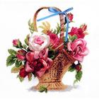 Набор для вышивания Чаривна Мить №009 Л «Корзина с розами»