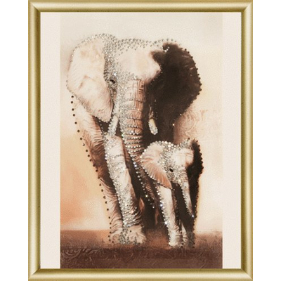 Набор для вышивания Чаривна Мить №067 КС «Величие. Слоны» 24*29.5 см в интернет-магазине Швейпрофи.рф