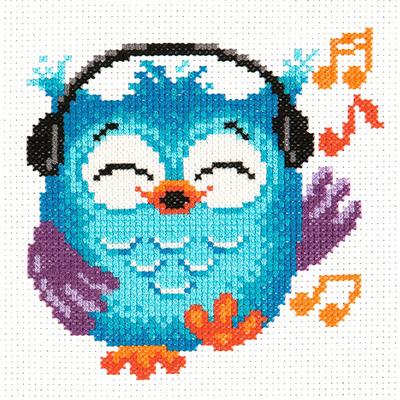 Набор для вышивания Чудесная Игла №10-33 «Совенок» 14*15 см в интернет-магазине Швейпрофи.рф