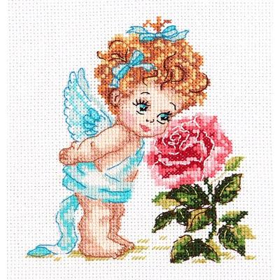 Набор для вышивания Чудесная Игла №35-09 «Ангел нашего счастья» 12*14 см в интернет-магазине Швейпрофи.рф