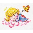 Набор для вышивания Чудесная Игла №35-10 «Милый ангелочек» 14*10 см