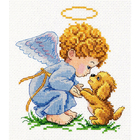Набор для вышивания Чудесная Игла №35-14 «Мой добрый  Ангел!» 13*14 см