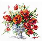 Набор для вышивания Чудесная Игла №40-60 «Красные маки» 27*24 см
