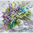 Набор для вышивания Чудесная Игла №40-70 «Ласковый май» 32*32 см