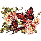 Набор для вышивания Чудесная Игла №42-06 «Пионы и бабочки» 30*22 см