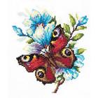 Набор для вышивания Чудесная Игла №42-09 «Павлиний глаз» 17*17 см
