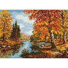 Набор для вышивания Чудесная Игла №45-02 «Золотая осень» 35*25 см