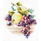 Набор для вышивания Чудесная Игла №50-05 «Виноград и яблоки» 16*18 см