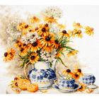 Набор для вышивания Чудесная Игла №50-08 «Цветочный чай» 40*35 см