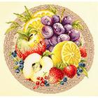 Набор для вышивания Чудесная Игла №54-02 «Фруктовый коктейль» 27*27 см