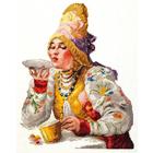 Набор для вышивания Чудесная Игла №66-01 «Боярышня за чаем» 30*38 см