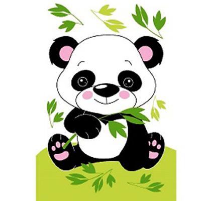 Картина по номерам Molly CX3133 «Маленькая панда» 20*30 см в интернет-магазине Швейпрофи.рф