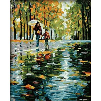 Картина по номерам Molly G125 «Под дождем» 40*50 см в интернет-магазине Швейпрофи.рф