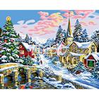 Набор для раскрашивания Цветной хамелеон A055 «Новогодний пейзаж»